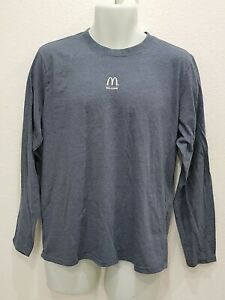 Waraire For McDonalds Welcome Uniform Long Sleeve T-SHIRT Size Large