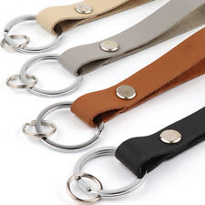Key Chain Leather Belt Loop Key Holder Ring Keychain Keyring Keyfob Hot Sale