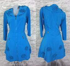 GLAMZ 2Tlg. Set Tunika Kleid Longshirt WESTE LAGENLOOK Blau Türkis 42 (R4160N)