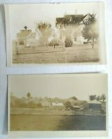 2 RPPCs  real photo postcard Divided Back era Volks Orchard, city unknown, Ohio?
