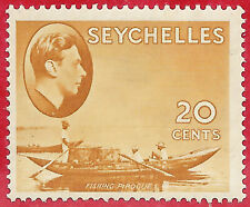 Seychelles 1941 20c brown-ochre Fishing Pirogue sg 140a MH