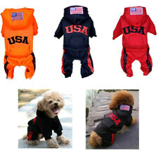 Pet Dog Letter Embroid Jumpsuit Clothes Puppy Winter Coat Warm Hoodie Apparel
