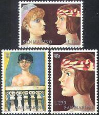 San Marino 1975 IYW/Women's Year/Art/Paintings/Naked/Nude/Artists 3v set n41982