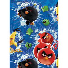 ANGRY BIRDS 2 SHEETS WRAPPING PAPER AND 2 TAGS