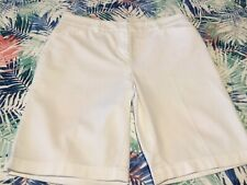 Women's Jones New York Sport White Stretch Four Pocket Shorts Size 8P