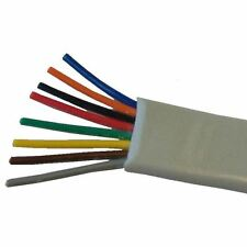 Solwise 8 core D section flat 1m CABLE-FLAT8