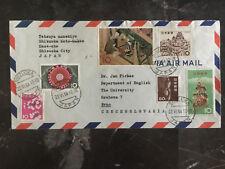 1964 Shizuoka City Japan cover to Brno Czechoslovakia Multi Franked
