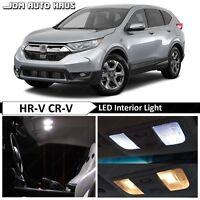 12x White Full Interior LED Lights Bulbs Package Fits Honda CR-V HR-V 2016-2018