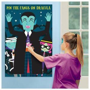 Pin the Fangs on Dracula Game - Halloween