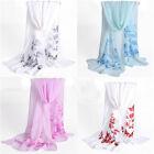 Women Ladies Floral Chiffon Soft Girls Scarf Shawl Scarves Long Stole Wraps 141