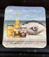 LA Rams  NFL Corona Official Cerveza  Coasters Sealed Package  Of 100 Coasters