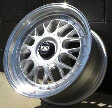 "17x8.5 +20 5x120 MW 3"" Lip Mesh Motorsport Center Lock Style Wheels Rims"