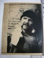 """Vintage Wire Press Photo Jon Vought """"Runaway Train"""" 5/18/1985"""