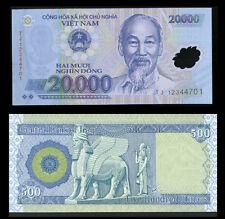 500 New Iraq Dinar   + A Free 20,000 Viet Nam Dong  Lot Of 1 Ea.