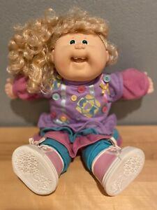 Vintage Cabbage Patch Kids: Designer Line head mold 19 doll in HTF button dress!