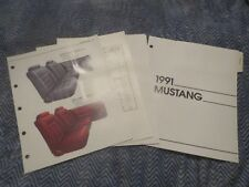 1991 FORD MUSTANG AND GT MUSTANG LX DEALER ALBUM COLOR UPHOLSTERY SHEETS SET