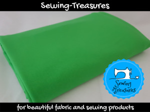 Lime Green ~ Solid Plain Cotton Lycra Fabric Stretch Knit Fabric