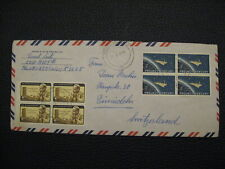 Stamps - Block Mercury, and Dag Hammarskjold US On Envelope Hand stamped