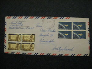 Stamps - Block Mercury, and Dag Hammarskjold US On Envelope Hand stamped