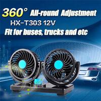 12V 360° 5W Ventilator Lüfter für Auto PKW ZIGARETTENANZÜNDER Windmaschine N3Y7