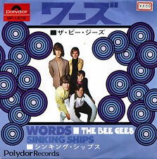 THE BEE GEES, WORDS, ORIGINAL 1968 JAPANESE SINGLE WITH PICTURE SLEEVE NM