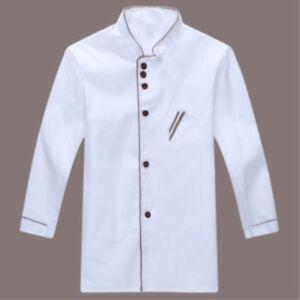 Hotel Chef Jacket Long Sleeve Chef Jacket Coat Cook Hotel Uniform for Men Women