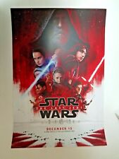 Star Wars Last Jedi 13x19 Authentic Original Theactrical Poster  *NOT A REPRINT*