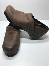 Bjorndal Ally Nubuck Leather Nurse Professional Clogs Women's Size 9