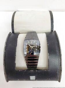 Rado DiaStar Black Ceramic Square Mens Chronograph Wrist Watch w/ Box Running