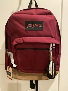 NWT Jansport Right Pack Backpack Suede Bottom, Russet Red