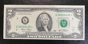 Series 2003 $2 Chicago Star Note - BEP - Low Serial Number