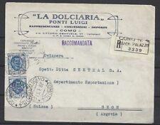 617)) Italie MIF R-Lettre entreprises lettre la dolciaria Como, gel. N. Seon (CH)