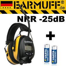 25dB Original EARMUFF Kapsel Gehörschutz mit Radio & SmartPhone MP3 Anschluss