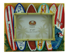 "Hawaiian Picture Photo Frame Poly Resin 4""x6"" Aloha Hawaii Surfboards Beach NIB"