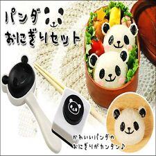 DIY Bento Panda Shape Sushi Maker Mould Rice Ball Onigiri Mold w Nori Punch