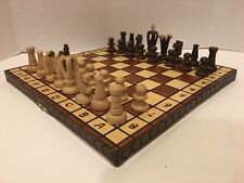 Wood Chess Set Royal 36 Wooden International Board Vintage Carved Pieces