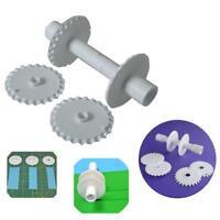 6X Fondant Strip Ribbon Sugarcraft Tool Rolling Pin Embosser Roller NEW/