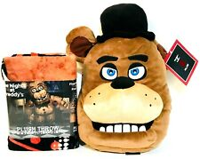 Franco Manufacturing Co Five Nights At Freddy's Plush Throw & Fazbear Pillow