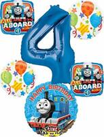 Thomas the Train Party Supplies 4th Birthday Sing A Tune Tank Engine Balloon ...