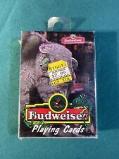 Vintage 1998 Budweiser Playing Cards Lizard Anheuser Busch Sealed