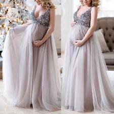 Enceinte Femme Paillette Maternité Robe Photographie Accessoire Maxi Photo Shoot