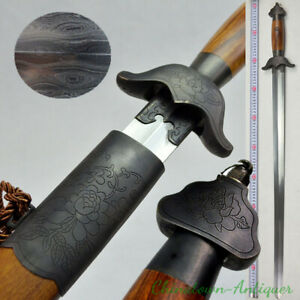 Chinese Martial Arts Trigrams Tai-chi Sword Hand Forged Pattern Steel Blade#3330