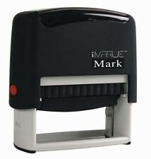 Custom Check Endorsement 4 LINE Self-Inking Rubber Stamp Banking use - 9013