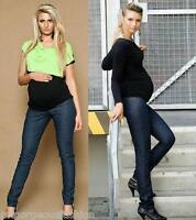 Maternity Pregnancy Trousers Skinny Cotton Jeans Over Bump 6 8 10 12 14 16 18