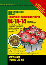 Controlled Release Fertilizer 5lb 14-14-14 Contains Osmocote Southern Ag
