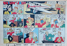 Smilin' Jack by Zack Mosley - half-page full color Sunday comic - April 11, 1937