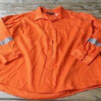 new Walls Orange Shirt Reflective Size 3XL Regular Chest Long Sleeve