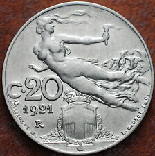1921  Regno D'Italia 20  centesimi  Libertà librata  KM#44  qfdc/fdc