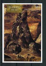 Grenadines Grenada 2015 MNH El Greco 1v Imperf S/S II Mount Sinai Art Stamps