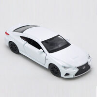 1/36 Scale Lexus RC F Model Car Diecast Gift Toy Vehicle Kids White New in Box